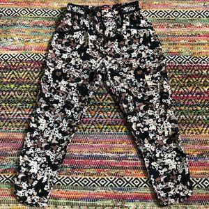 Anthropologie floral dress pants